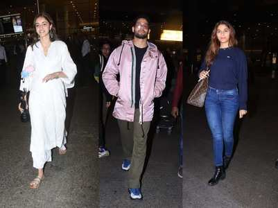Photos: Celebs return after attending Filmfare