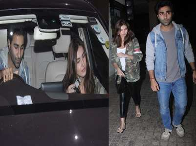 Photos: Tara and Aadar go out on a movie date