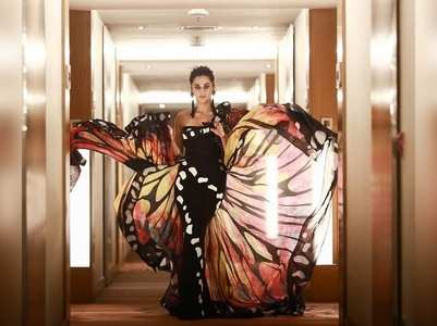 Pics: Taapsee turns butterfly for Filmfare
