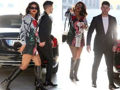 Photos: Priyanka - Nick get snapped in Milan