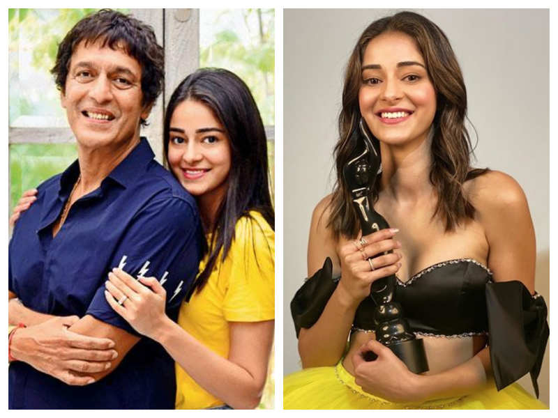 Chunky Panday is one proud daddy as his daughter Ananya Panday bags the Filmfare Best Debut award for 'Student Of The Year 2'