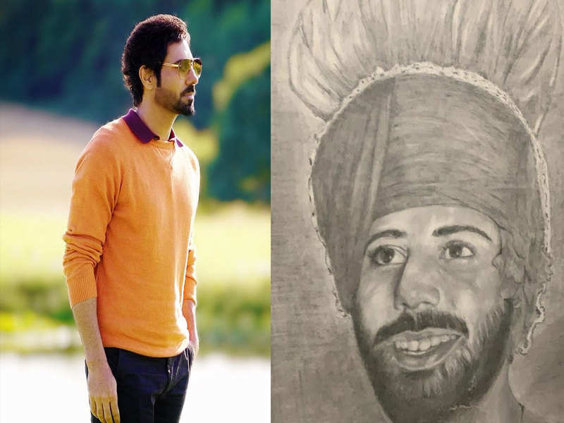 Binnu Dhillon shares pencil sketch made by his father Shri. Harbans Singh Dhillon and it is a treat to eyes