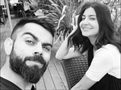 Anushka posts a monochrome pic with Virat
