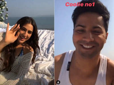 Varun-Sara's fun clip from Coolie No 1 sets