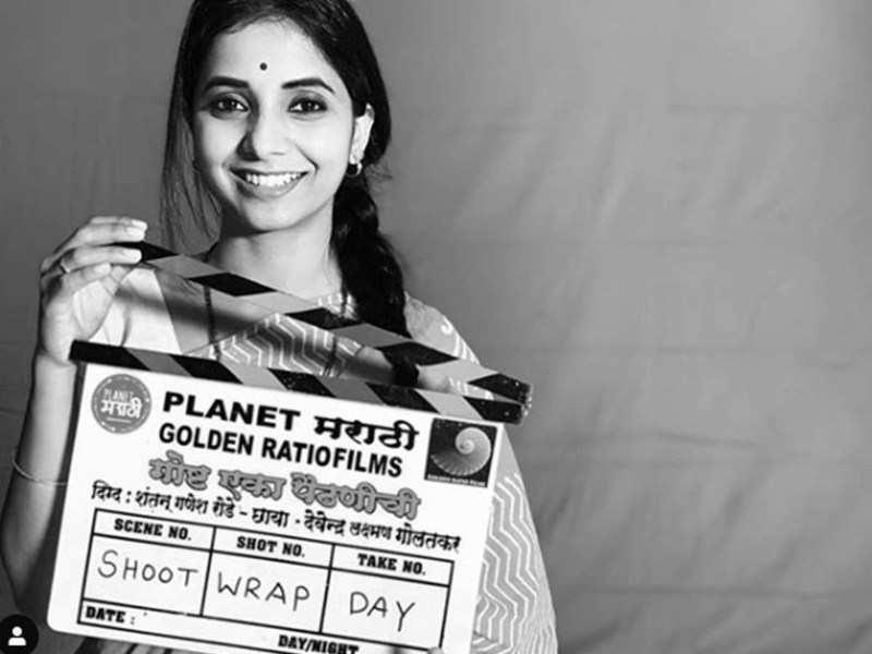 'Goshta Eka Paithanichi': Sayali Sanjeev calls it a wrap, shares film's clapboard