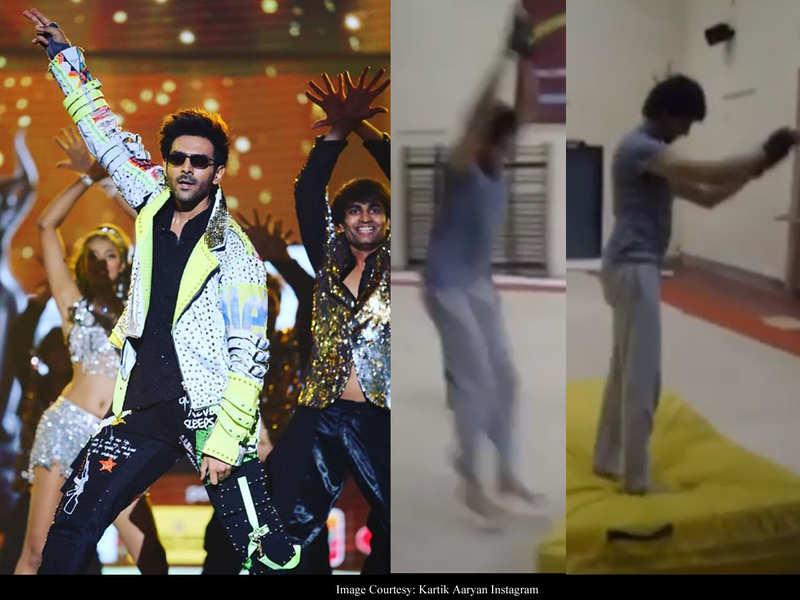 VIDEO: Kartik Aaryan's fabulous front flip marks the beginning of his prep for Om Raut's action entertainer