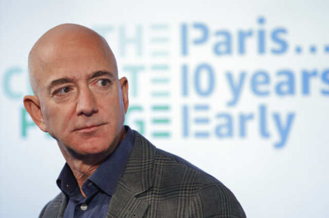 Amazon CEO Jeff Bezos pledges $10 billion to climate change fight
