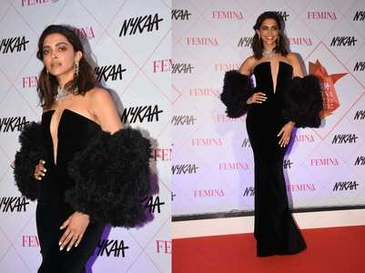 Pics: Deepika stuns in a black outfit at NFBA