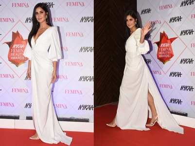 Pics: Kat is a sight to behold in a white gown