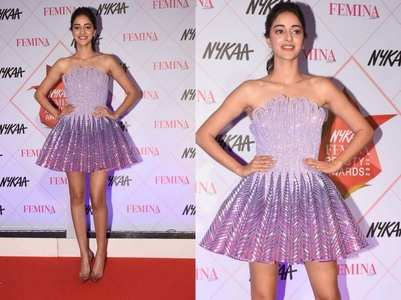 Ananya's dress is straight out of a Barbie film