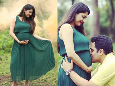 TBT: Rucha shares maternity photoshoot pics