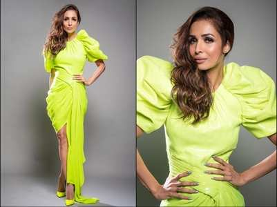 Malaika Arora proves neon is the new black