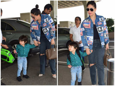 Taimur steals the show his cute backpack
