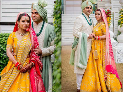 This bride proved yellow is the lehenga hue of the season