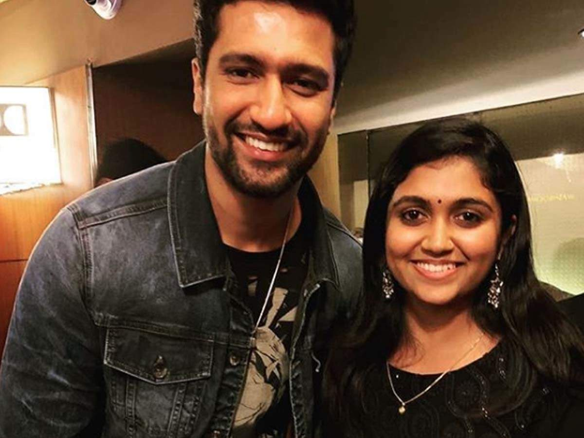 All smiles! Rinku Rajguru poses with Vicky Kaushal at the special screening  of 'Bhoot Part One: The Haunted Ship'   Marathi Movie News - Times of India