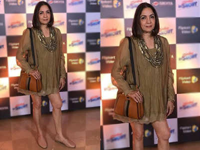 Neena Gupta stuns in a mini dress