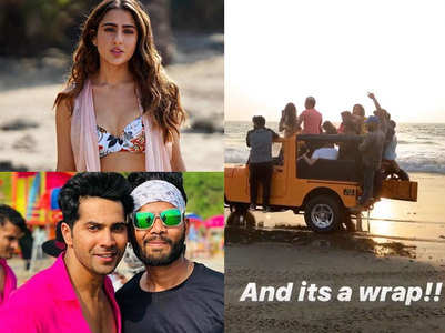 Watch: Sara-Varun wrap up Cooli No 1 in Goa