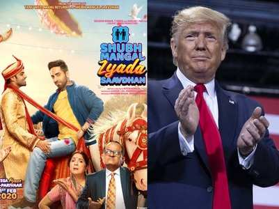 Trump reacts to Ayushmann Khurrana's film