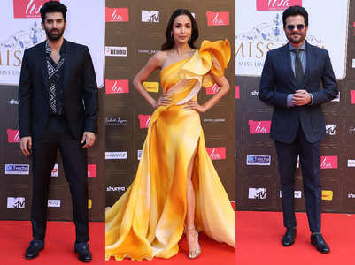 Pic: Malaika, Aditya rock Miss Diva red carpet