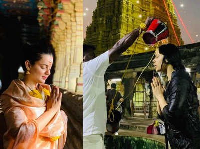 Photos: Kangana Ranaut visits Rameshwaram