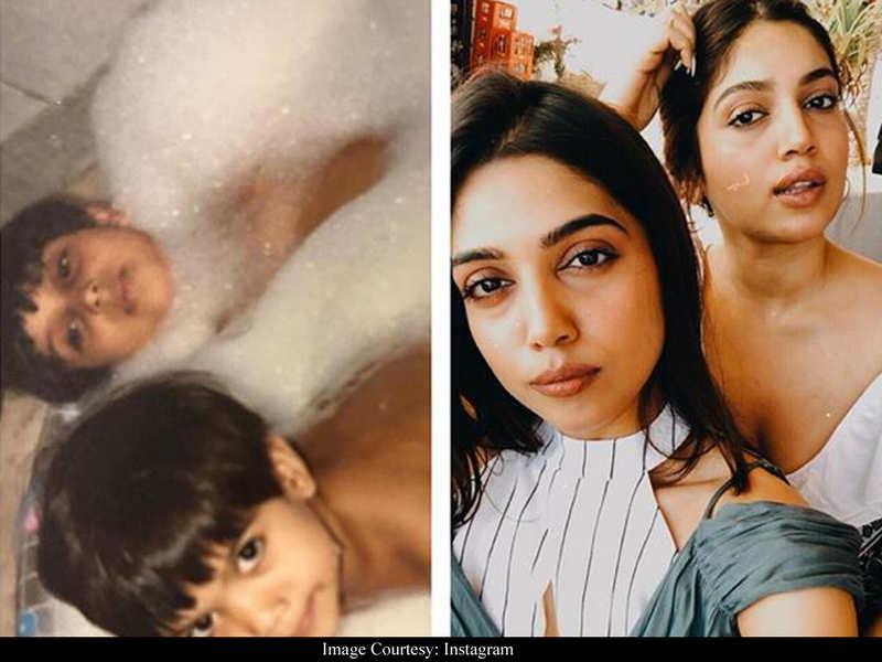 Bubble bath to birthday parties - Bhumi Pednekar's birthday post for sister Samiksha gives a sneak-peek of their adorable childhood memories