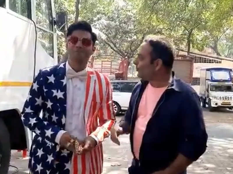 Varun Dhawan welcomes US President Donald Trump with a hilarious 'Coolie No 1' twist - watch video