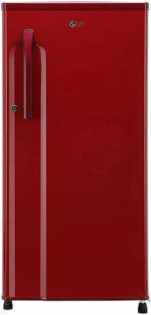 LG 188 L 3 Star Inverter Direct-Cool Single Door Refrigerator (GL-B191KPRX, Peppy Red)