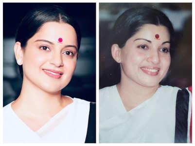 Kangana's Jayalalithaa look from 'Thalaivi'