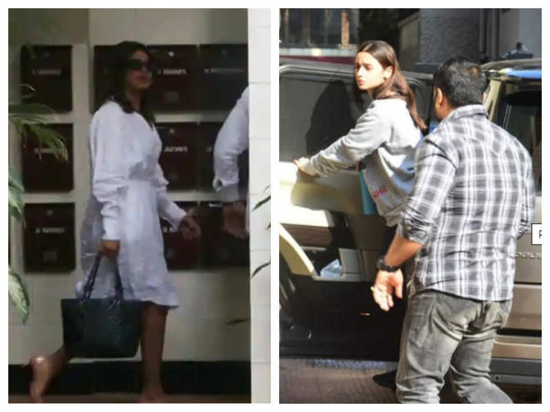 Photos: Priyanka Chopra joins Alia Bhatt as they visit Katrina Kaif's house in Mumbai