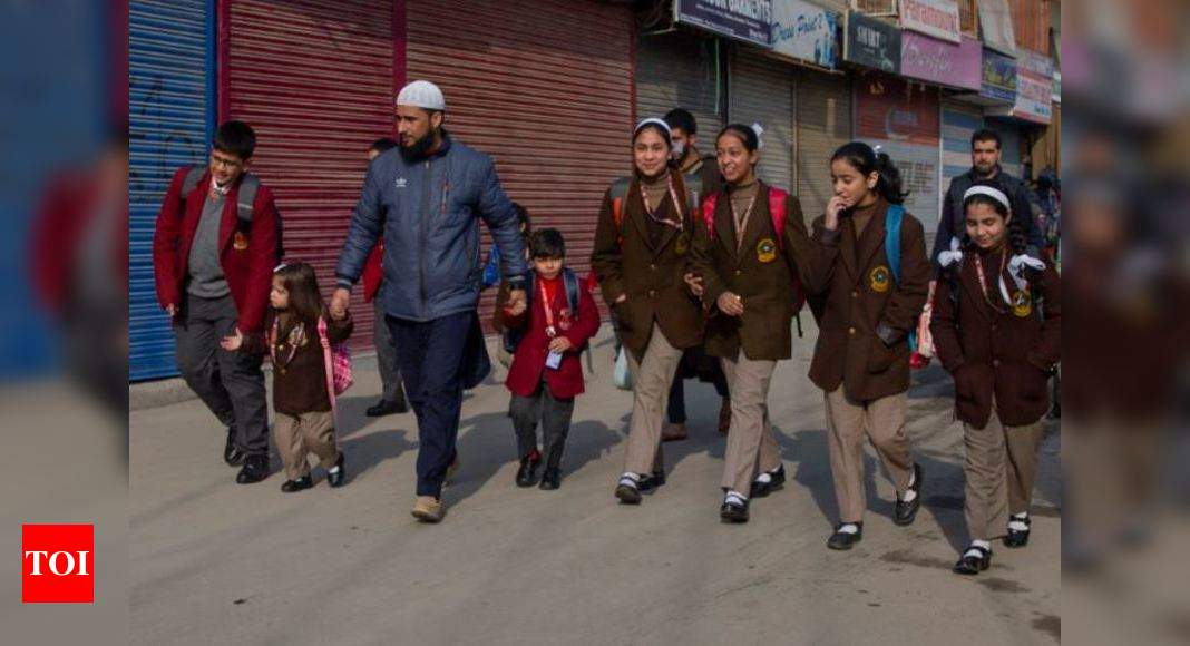 Schools in Kashmir reopen after 6 months | India News - Times of India