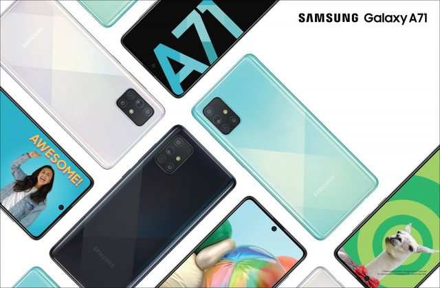 Samsung Galaxy A71 with 4500mAh battery, 64MP quad camera setup goes on sale today