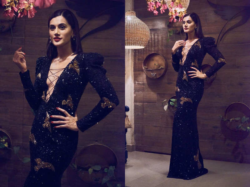 Taapsee Pannu just wore a very risque dress with a plunging neckline