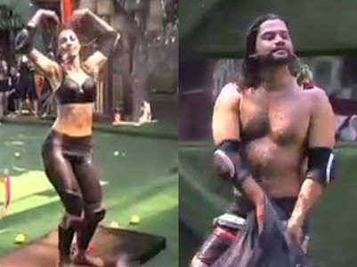 Girls do pole dance to impress Paras, watch