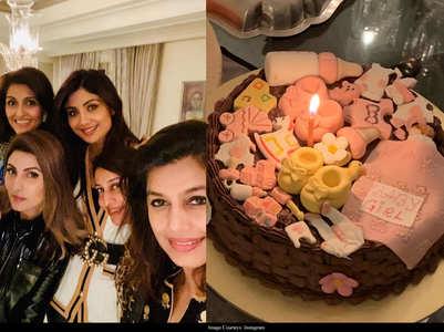 Pic: Shilpa celebrates daughter's homecoming