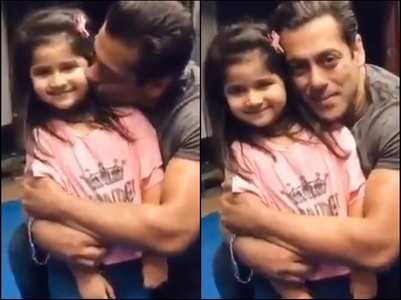 Aww: Watch Salman kiss kiddie fan's cheek
