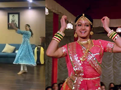 Janhvi's dance video reminds fans of Sridevi