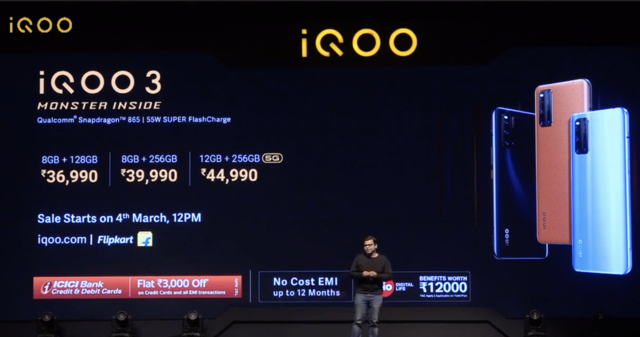 iQoo 3 smartphone with Qualcomm Snapdragon 865 SoC, 48MP camera launched in India: Price, availability and more