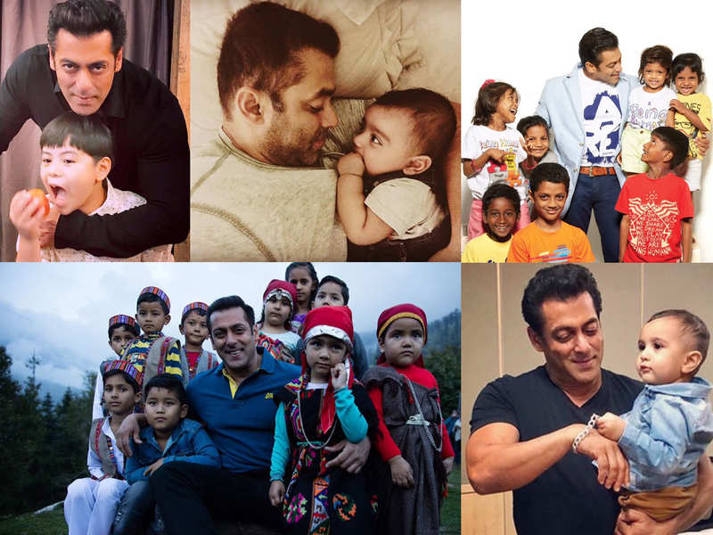 11 times Salman Khan was snapped with kids and their adorable camaraderie won the internet