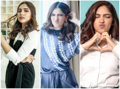 Here are different moods of Bhumi Pednekar