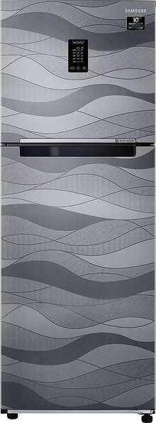 Samsung 314 L 2 Star Inverter Frost-Free Double Door Refrigerator (RT34T4632NV/HL, Wave Steel, Convertible)