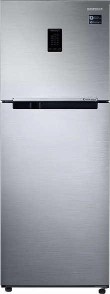 Samsung 324 L 2 Star Inverter Frost-Free Double Door Refrigerator (RT34T4542S8/HL, Elegant Inox, Convertible)