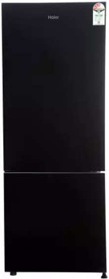 Haier 320 L Frost Free Double Door Bottom Mount 3 Star (2019) Convertible Refrigerator(Black Glass, HRB-3404CKG-E)