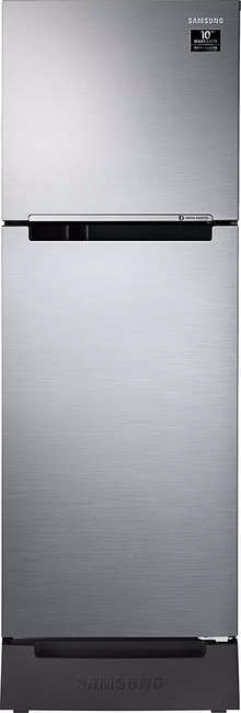 Samsung 253 L 3 Star Inverter Frost-Free Double Door Refrigerator (RT28T3123SL/HL, EZ Clean Steel(Silver), Base Stand with Drawer)