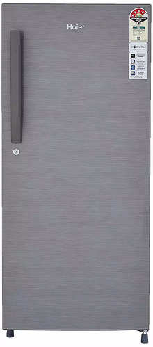 Haier 195 L 4 Star Direct-Cool Single Door Refrigerator (HED-20CFDS-E, Brushline Silver)