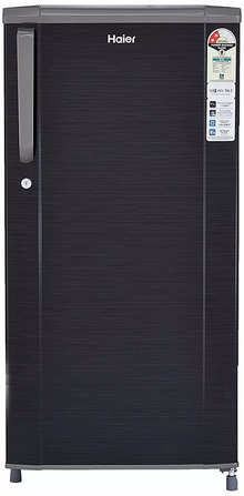 Haier 181 L 2 Star Direct-Cool Single Door Refrigerator (HED-1812BKS-E, Black Brushline)