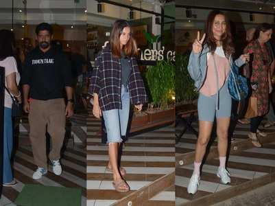 Photos: Farhan dines with Shibani & Anusha