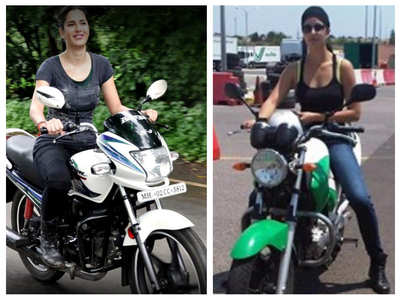 Pictures that prove Katrina's love for bikes