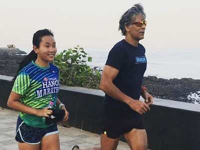 Milind-Ankita run 21 kms to celebrate 6 years