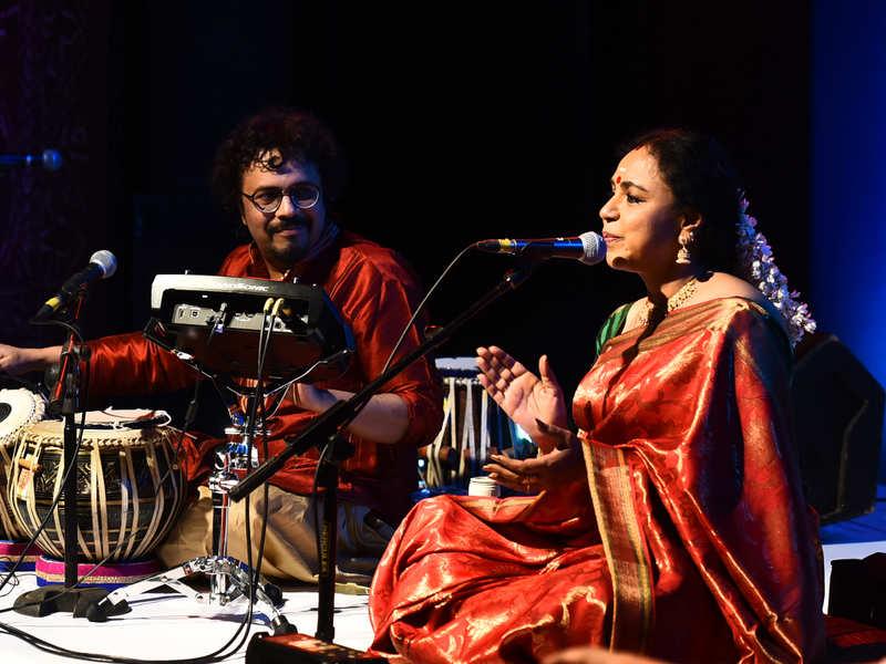Sudha Raghunathan and Bickram Ghosh performed at the Omkara concert at the Narada Gana Sabha