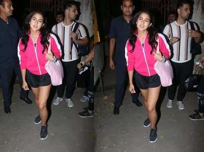 Photos: Sara Ali Khan looks pretty in pink!